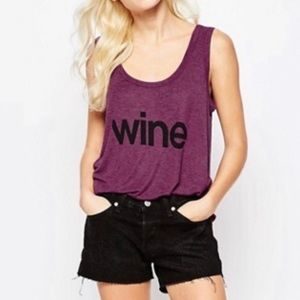 Wildfox Couture Wine Tank Top Small